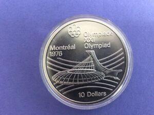 Silber Münze Xxi Olympiade Montreal 1976 10 Dollars Ebay