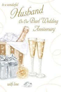 Image Is Loading Pearl Wedding Anniversary Husband Card 30 Years Good