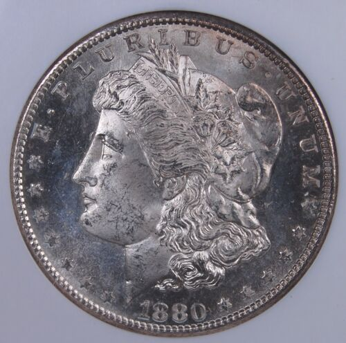 1880 S MORGAN DOLLAR NGC MS 65 CRISP AND FROSTY WHITE GEM NEARLY PROOFLIKE