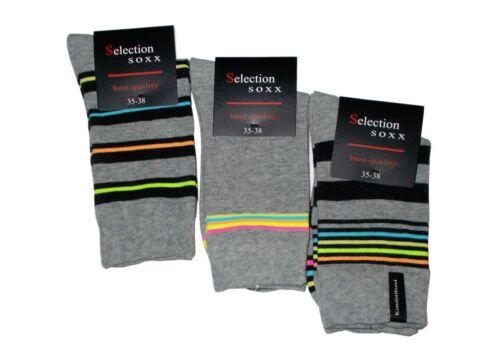 3 6 o 12 Paia di Calze da Donna Neon cuciture senza drastiche elastica 3d2