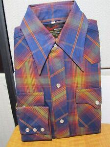 shirt Champion heren up maat8 western geruite snap vintage groenroodblauw byf76gY