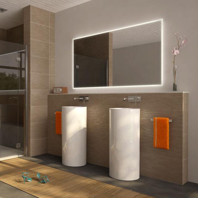 Design LED Badezimmerspiegel BADSPIEGEL Wandspiegel Lichtspiegel Warmweiß TOP!
