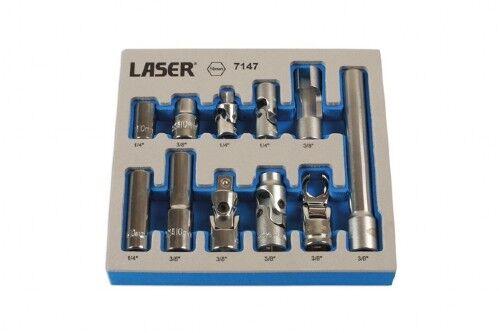 UJ 3//8 Drive 1//4 Drive Deep Standard Extra Deep Socket Set 10mm 11 pieces