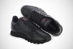 82954eb3057b Image is loading Reebok-CL-Classic-Leather-Black-116-Original-Shoes-
