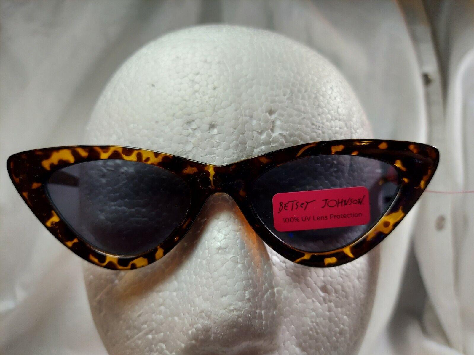 NWT Betsey Johnson Tortoise Cat Eye Sunglasses