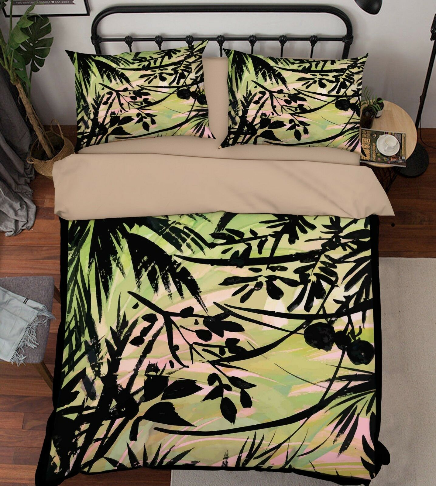 3D Farbeful Leaf 677 Bed Pillowcases Quilt Duvet Cover Set Single King UK Summer