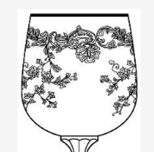 Cordial Goblet Glass Import Assoc Crystal Bohemia Queen/'s Lace Pattern