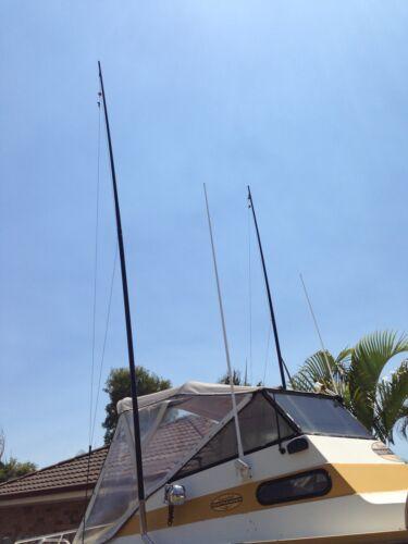 Ultra lightweight 2 x 3.5 metre Outrigger Poles Excellent light tackle poles