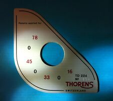 ULTRA RARE VINTAGE NEW OLD STOCK THORENS TD 224 ID PLATE