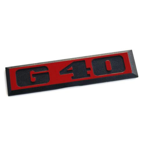 Originales de VW Polo II 86c g40 letras cheers atrás portón trasero emblema rojo negro OEM