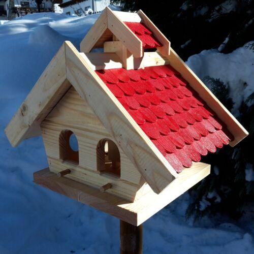 Volière putzklappe nichoir oiseau maisons massif bois oiseau petite maison rouge