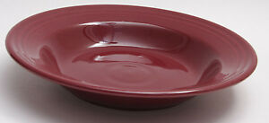 Fiesta-Bowl-Shallow-Soup-Cereal-6-034-ID-9-034-OD-Burgundy-NEW-Old-Stock-E24