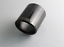 with Logo 89mm Auto Car Exhaust Pipe Cover Muffler Pipe Tip Cover-Carbon Fiber