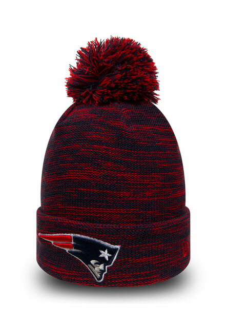 38ad9cb4 New Era NFL Bobble New England Patriots Marble Knit Sideline On Field  Beanie Hat