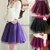 Organza Women's Girls' Pettiskirt Tutu Adult Ballet Mini Skirt Dance Dress YA46