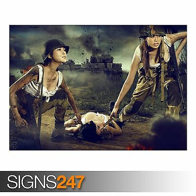 AC073 ARMY POSTER Photo Picture Poster Print Art A0 to A4 SOLDIERS AT WAR