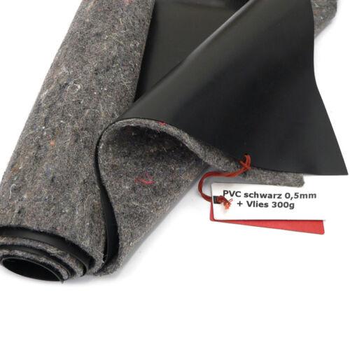 Länge wählbar SIKA Premium PVC Teichfolie 0,5mm schwarz+Teichvlies V300 6m br