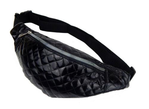 Gürteltasche silber o schwarz Bauchtasche Ella Jonte kleine Tasche verstellbar