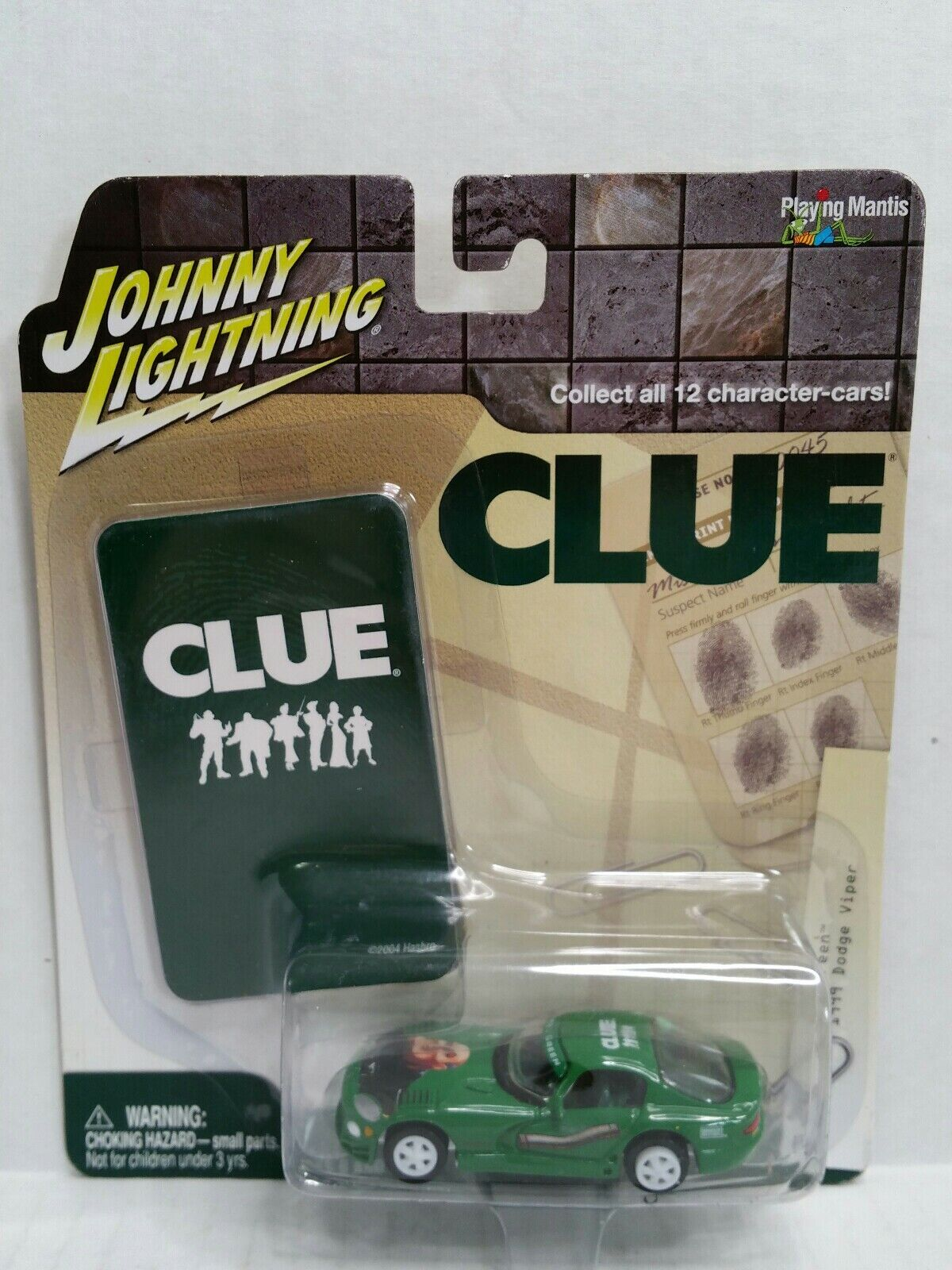 Rare Johnny Lightning Clue 1999 Dodge Viper White Lightning Chase Green