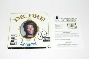 DR-DRE-SIGNED-039-THE-CHRONIC-039-ALBUM-VINYL-RECORD-LP-BECKETT-COA-N-W-A-EMINEM-BAS