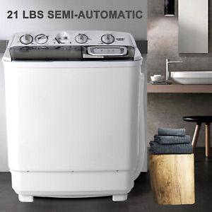 Portable-Mini-Semi-Automatic-21lbs-Washing-Machine-Twin-Tub-Washer-Spinner-Dryer