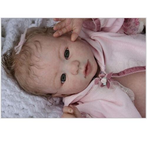Vinyl Reborn Doll Handmade Doll Parts Kit Molds Opened Eyes DIY Normal Skin