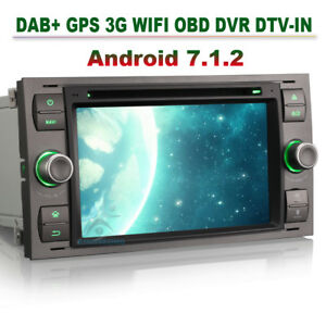 android 7 1 2 autoradio gps navi dab wifi obd cd f r ford. Black Bedroom Furniture Sets. Home Design Ideas