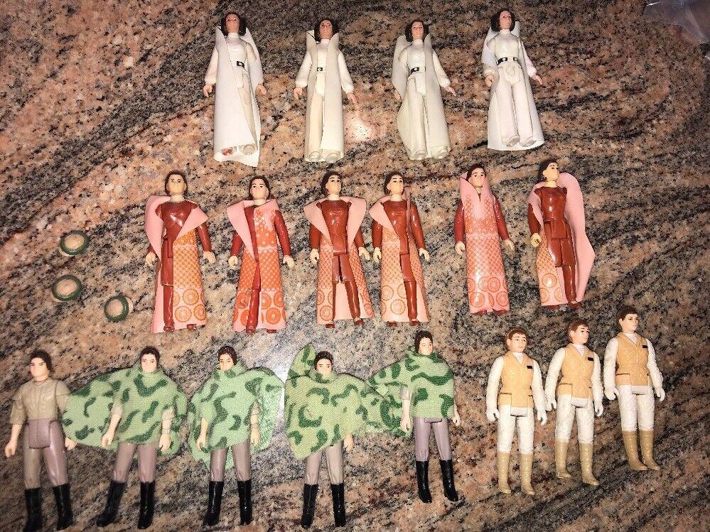 Lot of of of 18 Star Wars Vintage Kenner Princess Leia Action Figures Troop Builder b419a6