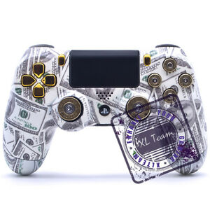 Details about CUSTOM SONY PS4 CONTROLLER DUALSHOCK 4 MONEY TALKS 9MM BULLET  BUTTONS NEW