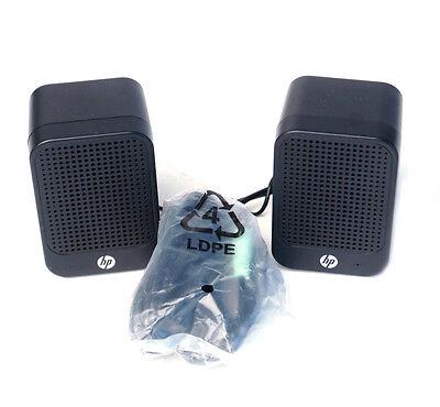 HP Multimedia Computer Speakers 630797-001 USB Powered Desktop Laptop Music