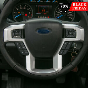 Silver Steering Wheel Decor Cover Trim Fit Ford F150 F250 F350 Super Duty 15 Ebay