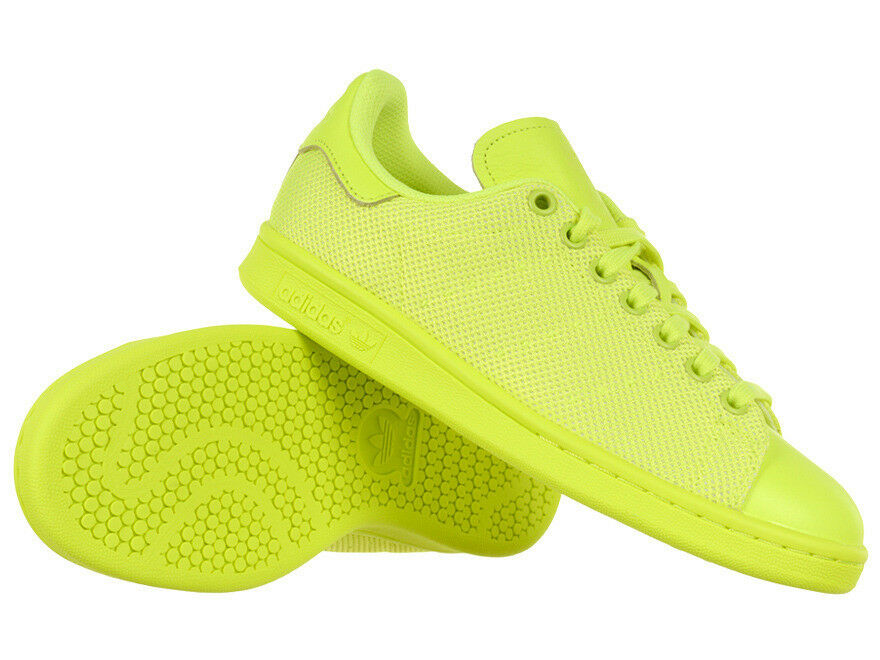 Uomo adidas Originals Stan Smith Unisex Sports Sports Sports Trainers giallo Lime Low scarpe 3a3130