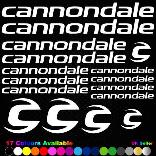 CANNONDALE Vinyl Decals Stickers Bike Frame Cycle Cycling Bicycle Mtb Road