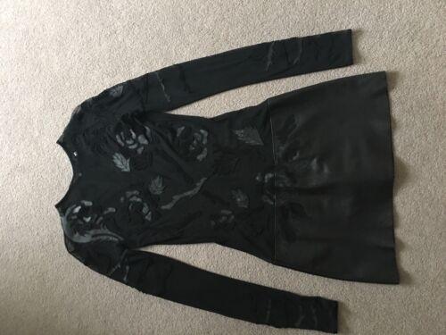 Noir 36 Courte Extensible France Robe Jitrois en Taille Cuir Femme nfFxX47