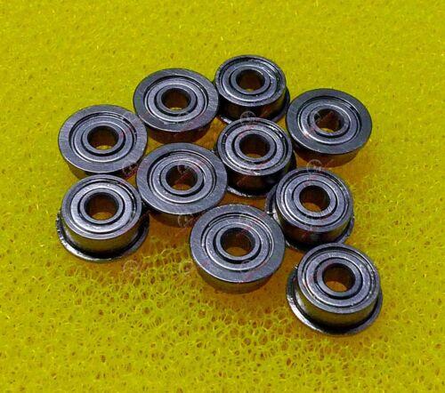 2x6x2.5 mm 10 PCS MF62zz Flanged Metal Double Shielded Ball Bearings 2*6*2.5