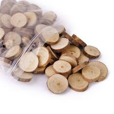 100pcs Rustic Natural Wood Log Slices Discs for DIY Crafts Wedding Centerpieces
