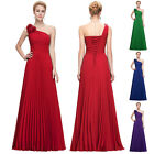 Sexy Long Bridesmaid One Shoulder Party Gown Bal Prom Evening Dress Cocktail New