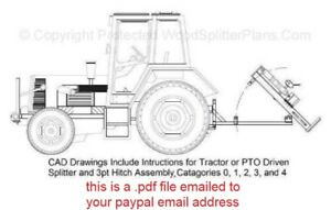 3 Point Hitch Tractor Vertical Wood Log Splitter Plans