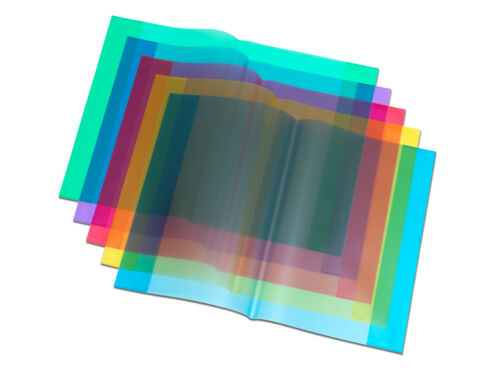 Hefthüllen DIN A4 Farbe transparent blau 25 Heftumschläge
