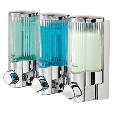 The Dispenser SOAP DISPENSER Signature 3 Shower Ribbed Glass Look ABS 3x325ml