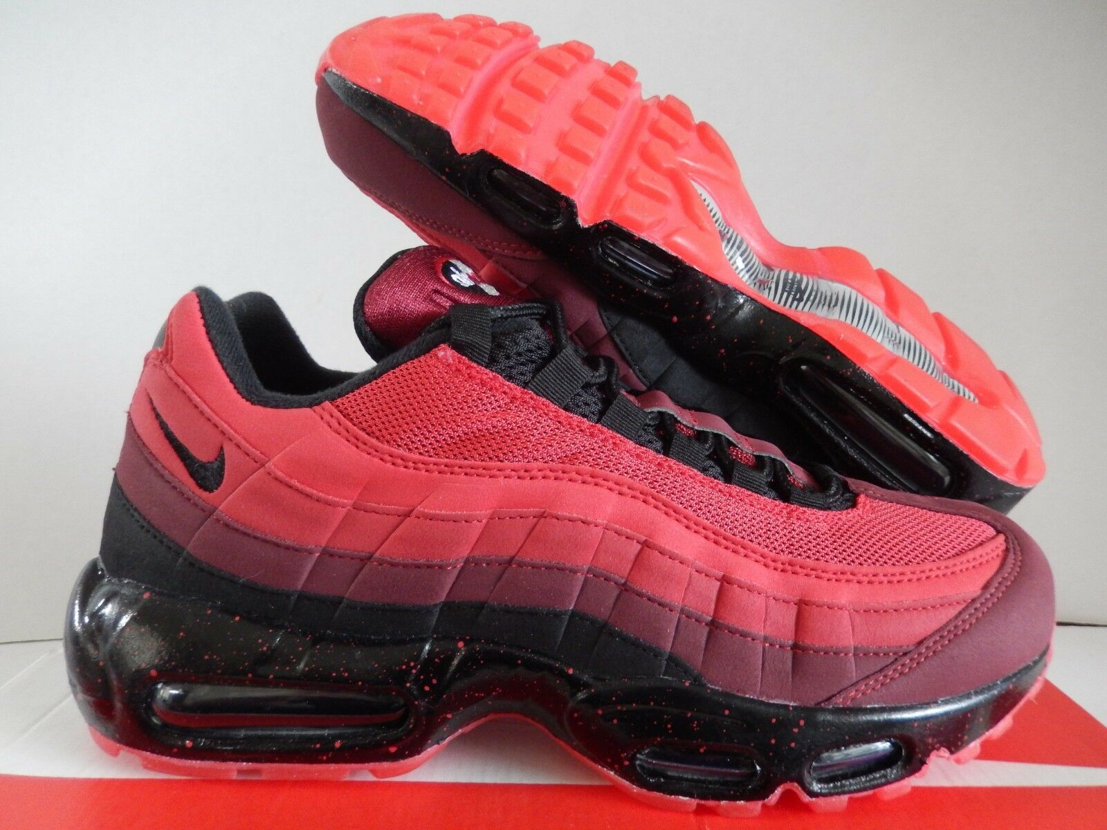 NIKE AIR MAX 95 ID RED-TEAM RED-BLACK SZ 9 [818592-996]