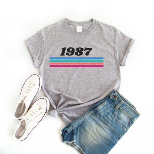 Born in 1987 Retro Vintage Custom Style Women/'s T-Shirt Tee Top Birthday Gift