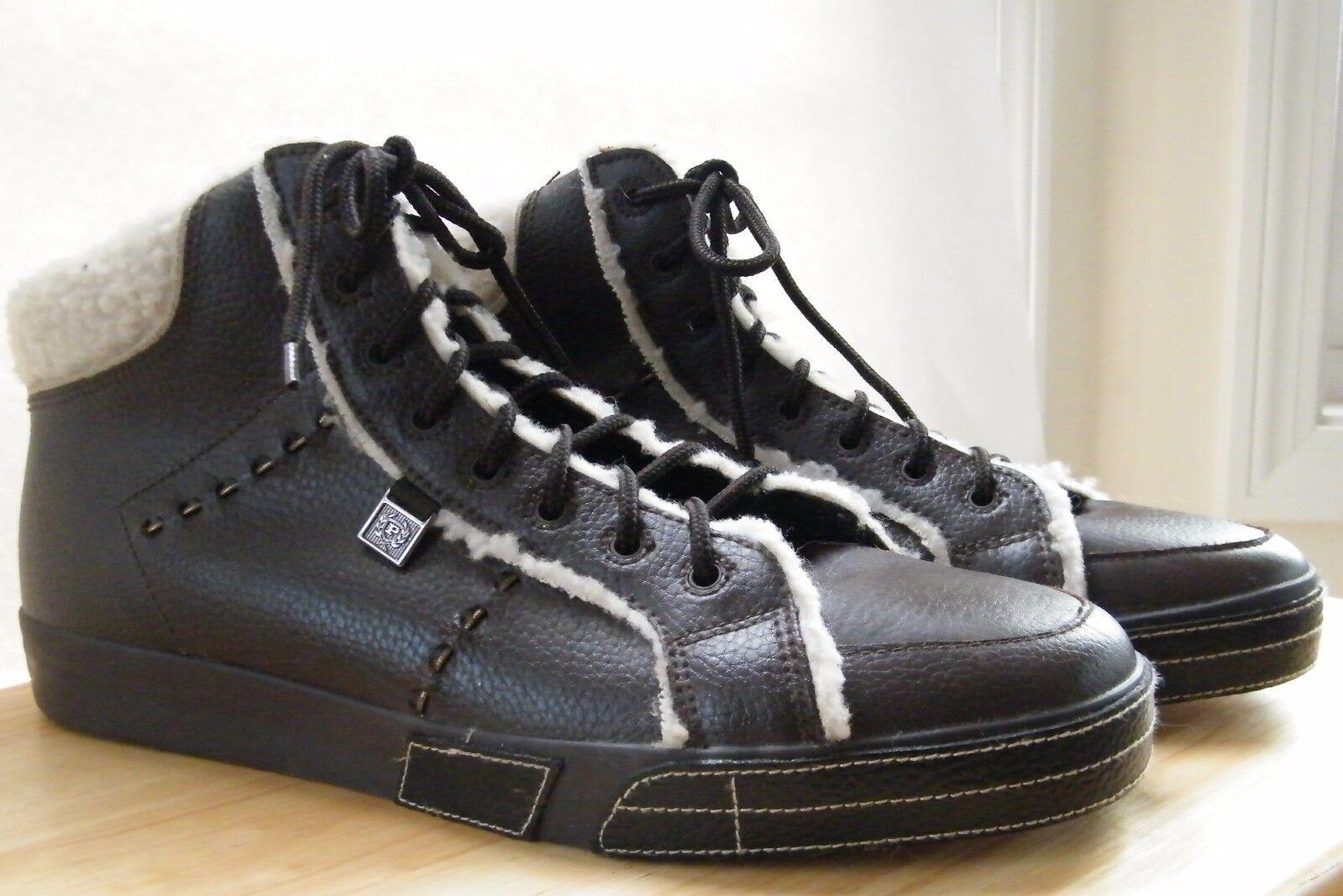 Phat farm - chukka chukka chukka stivali caviglia brown di finto pelo dimensioni 13 cuoio del merletto c8e0c8