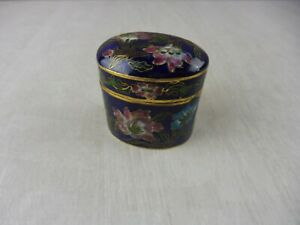 Ancienne-petite-boite-emaillee-metal-cloisonne