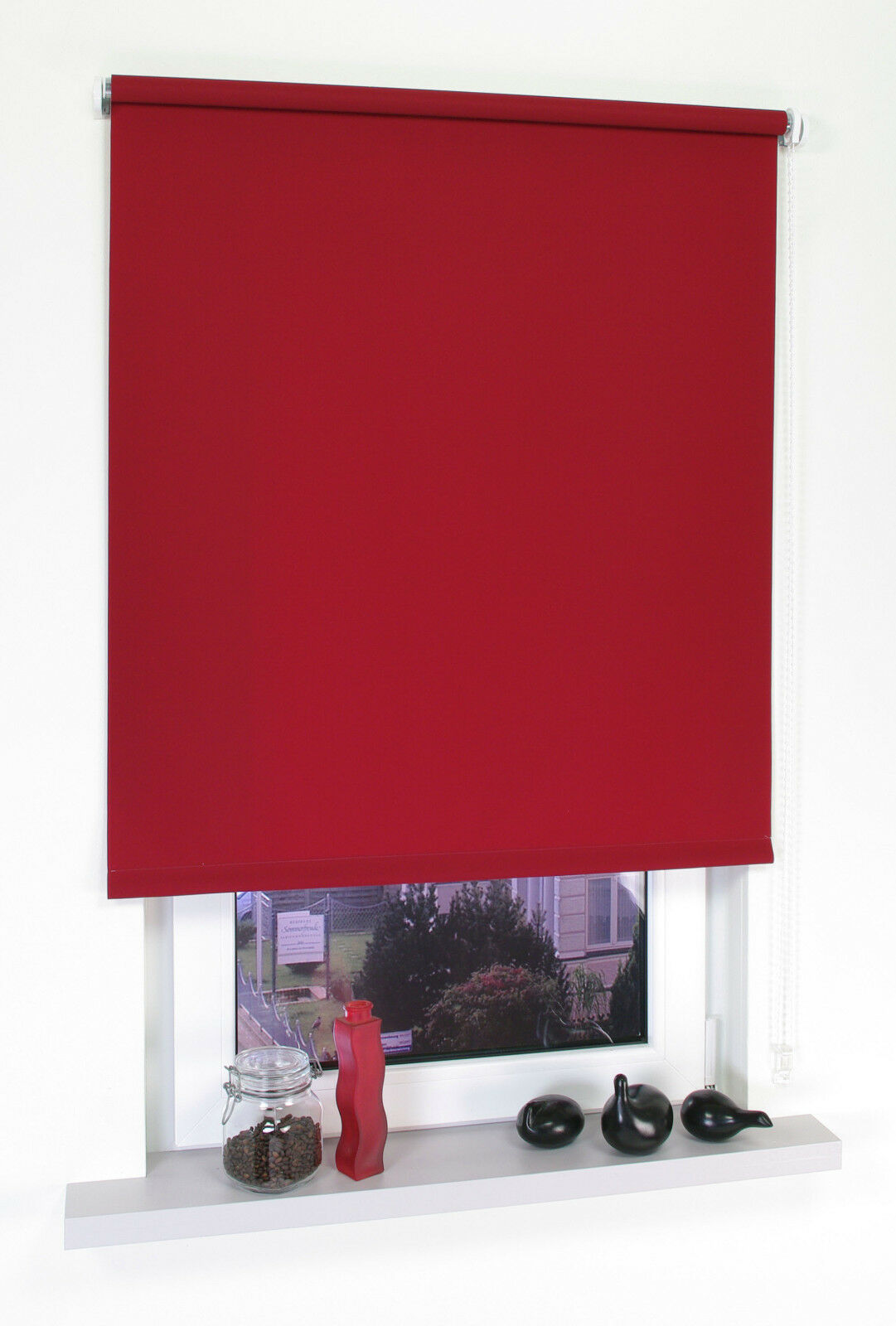 Seitenzugrollo Kettenzugrollo Kettenzugrollo Kettenzugrollo Dunkelrot Fenster Rollo Jalousie Plissee 60-200 cm | Jeder beschriebene Artikel ist verfügbar  8fda2c