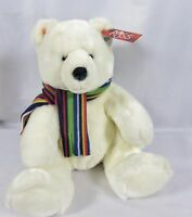 Russ Mc Kinley 12 White Polar Bear Scarf Stuff Animal Tag