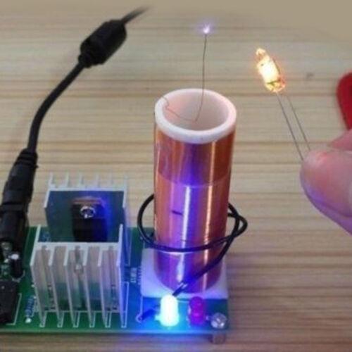 2018 Mini Tesla Coil Plasma Speaker Electronic Kit 15W DIY Kits /& Stainless Ball
