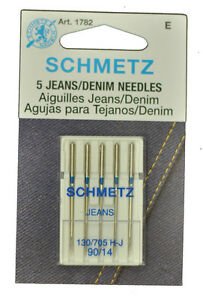 5 PACK SCHMETZ LEATHER SEWING MACHINE NEEDLES SIZE 14//90 Part# S-1715