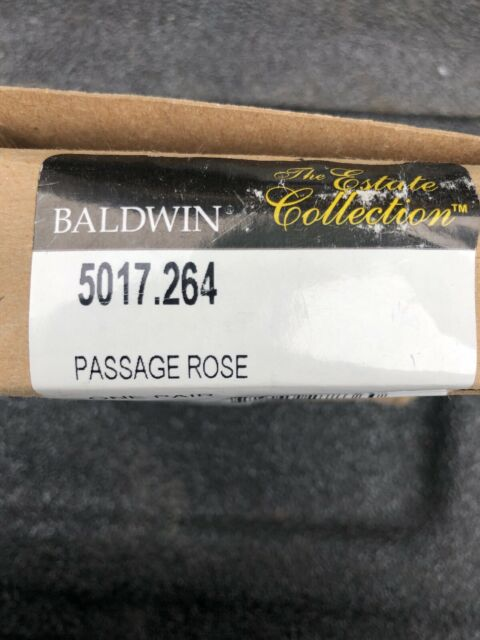 Baldwin 5010.I Single Estate Rosette for Passage Functions Satin Nickel
