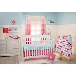 Tickled Pink 5 Stück Krippe Einstreu Set Von Nojo Hohe Sicherheit Baby Frank Kleiner Bettwäsche Bettsets